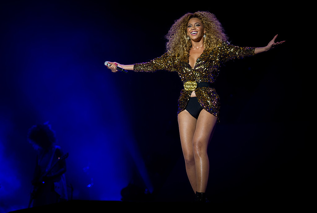 Beyonce Knowles performs at Glastonbury 2011.