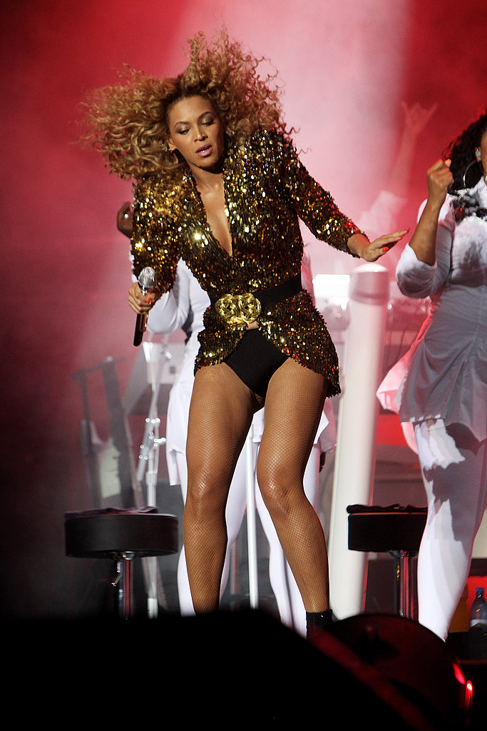 Beyonce Knowles performing.