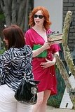 Christina Hendricks partying in LA.