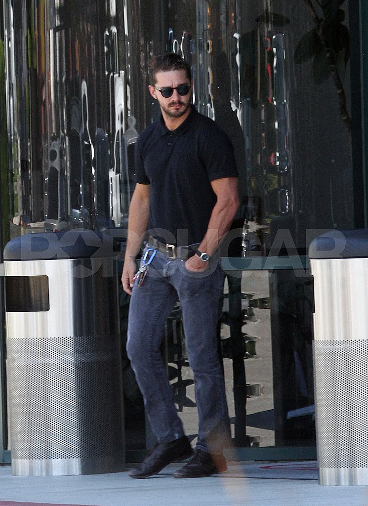 Shia LaBeouf Swings By an Auto Body Shop With His Real-Life Leading Lady