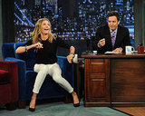 Cameron Diaz seemed to get as many laughs as her host during the late show appearance.