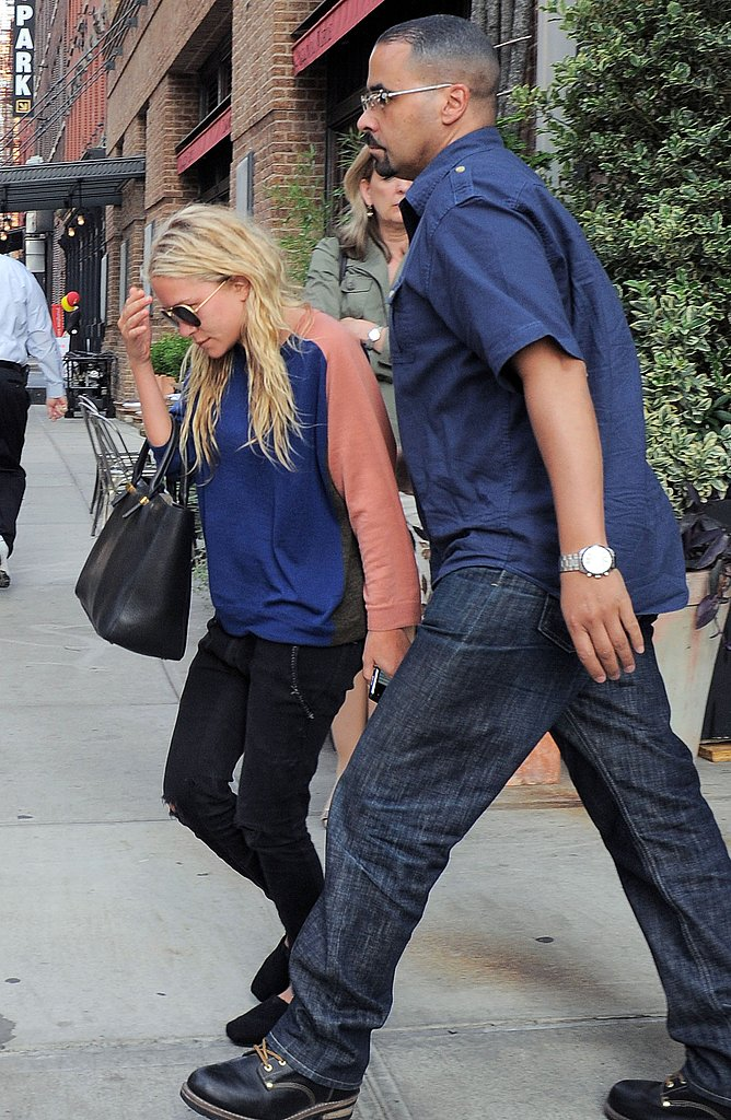 Mary-Kate Olsen gets lunch at Locanda Verde.