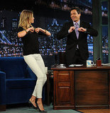 Cameron Diaz and Jimmy Fallon shared some moves on the show.