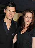 Kristen Stewart and Taylor Lautner posed together at the LA Film Festival.