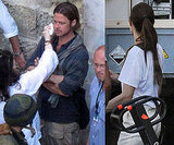 Angelina Pays Brad an On-Set Visit Following Their Latest Date Night