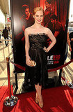 Deborah Ann Woll looked chic in black at the True Blood premiere.