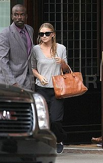 Ashley Olsen Pictures Walking in NYC From a Hotel
