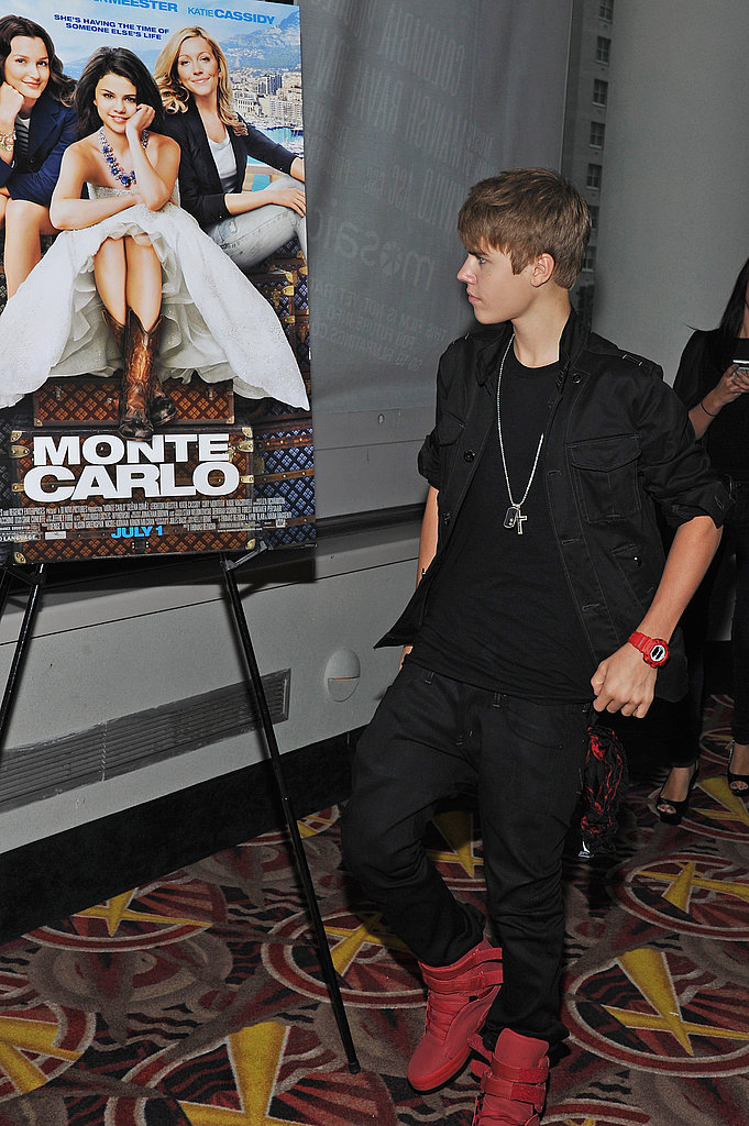 Justin Bieber Steps Out to Support Girlfriend Selena Gomez at Her Monte Carlo Premiere