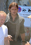 Brad Pitt reported to work on World War Z in Malta.
