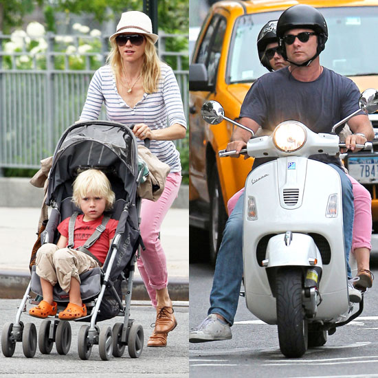 Naomi Watts Scoots With Liev and Pushes Sasha Around NYC