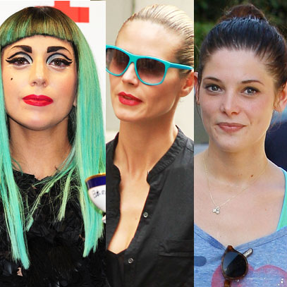 Lady Gaga, Heidi Klum, and Ashley Greene All Wear Seafoam Green