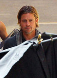 Brad Pitt kept focused while filming World War Z.