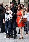 Fun family time for John, Ella, Benjamin Travolta and Kelly Preston.