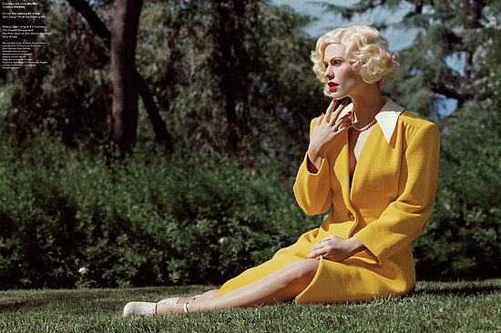 Anna Paquin wore a yellow suit for V Magazine.