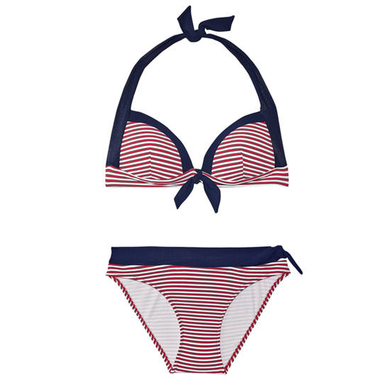 JETS by Jessika Allen Coastline Striped Bikini, $125 (top), $90 (bottom)