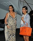 Kim and Kourtney Kardashian filmed their reality show in NYC.