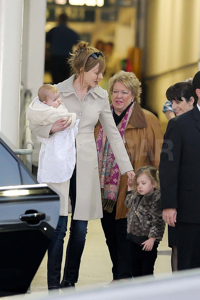 Nicole Kidman arrived in Australia with Sunday and Faith.