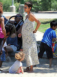 Halle Berry hung out with Nahla Aubry at the park.
