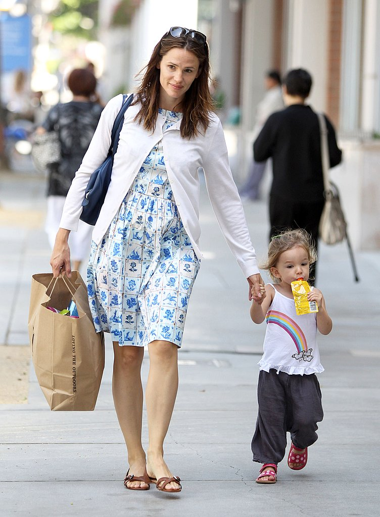Jennifer Garner and Seraphina Affleck held hands as they strolled Santa Monica.