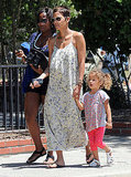 Halle Berry and Nahla Aubry arrived at a park in LA.