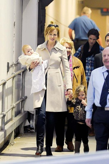Nicole Kidman Lands in Sydney With Adorable Faith and Sunday