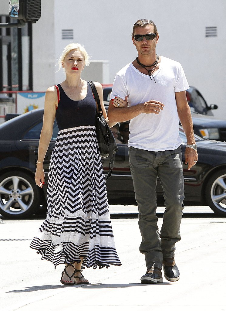 Gwen Stefani and Gavin Rossdale arm in arm in LA.