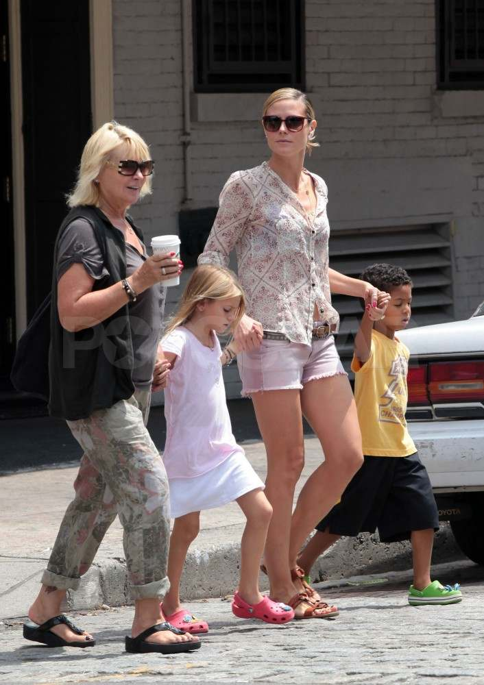 Heidi Klum was spotted with her family in NYC.