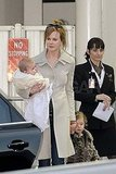 Nicole Kidman held onto Sunday and Faith in Sydney.