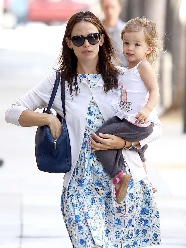 Seraphina Affleck and Jennifer Garner made a cute pair in the Santa Monica sunshine.
