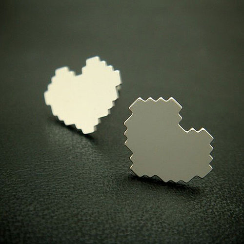 Pixel Heart Earrings From Etsy Seller Miscii