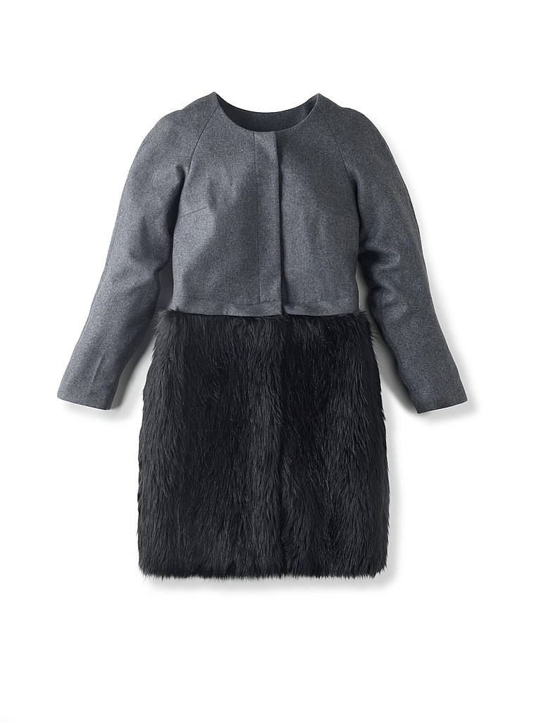 Love ADAM Felt & Fur Convertible Coat, $399.90