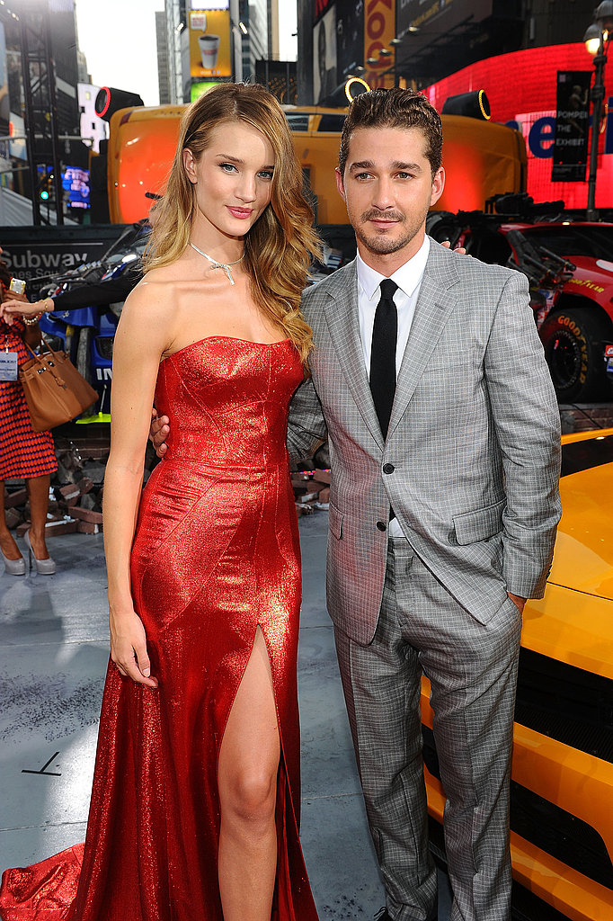 Rosie Huntington-Whiteley and Shia LaBeouf looked sexy at the NYC premiere of Transformers: Dark of the Moon.
