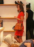 Pippa Middleton took a break from her busy schedule to shoe shop.