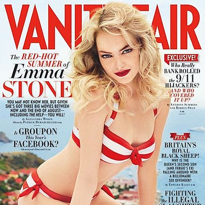 Emma Stone Bikini Picture in August 2011's Vanity Fair