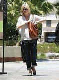 Pregnant January Jones walked around LA.