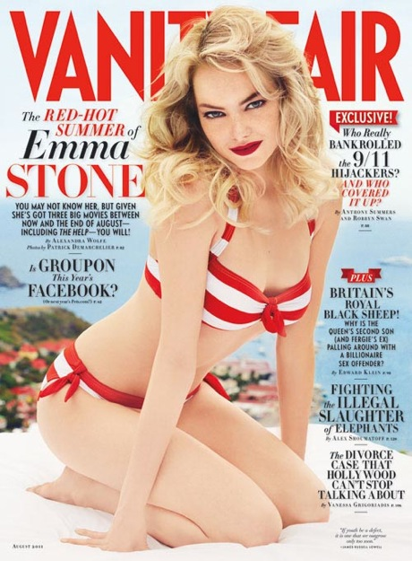 Emma Stone in a bikini for August 2011's Vanity Fair.