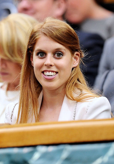 Princess Beatrice smiled during Wimbledon.