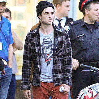 Pictures of Robert Pattinson Filming Cosmopolis