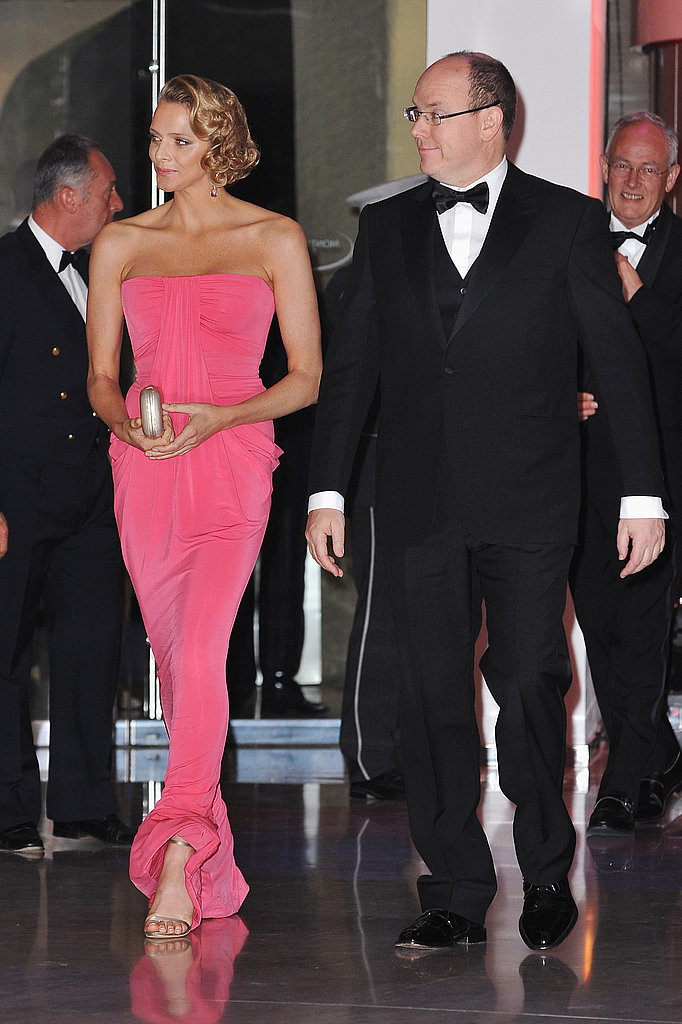 Princess Charlene looked chic in hot pink in May 2010.  Source: Getty / Francois Durand