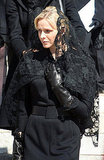 Prince Albert of Monaco's fiancée, Charlene Wittstock, attends the funeral of Princess Antoinette, late Prince Rainier's sister, at the Monaco Cathedral on March 24, 2011.