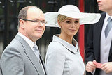 Prince Albert and Charlene Wittstock arrive at Prince William and Kate Middleton's royal wedding.