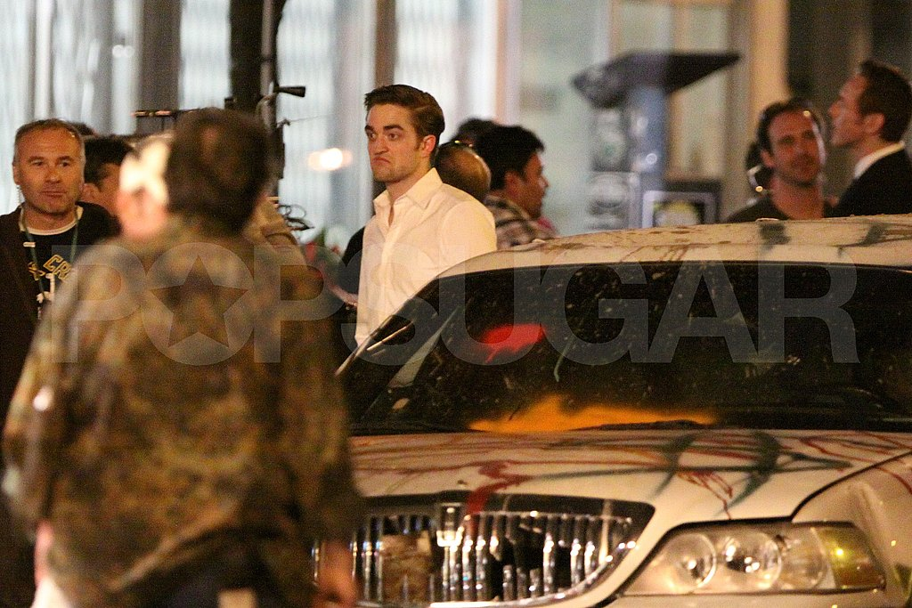 Robert Pattinson Gets Pie in His Face During a Late Night on Set!