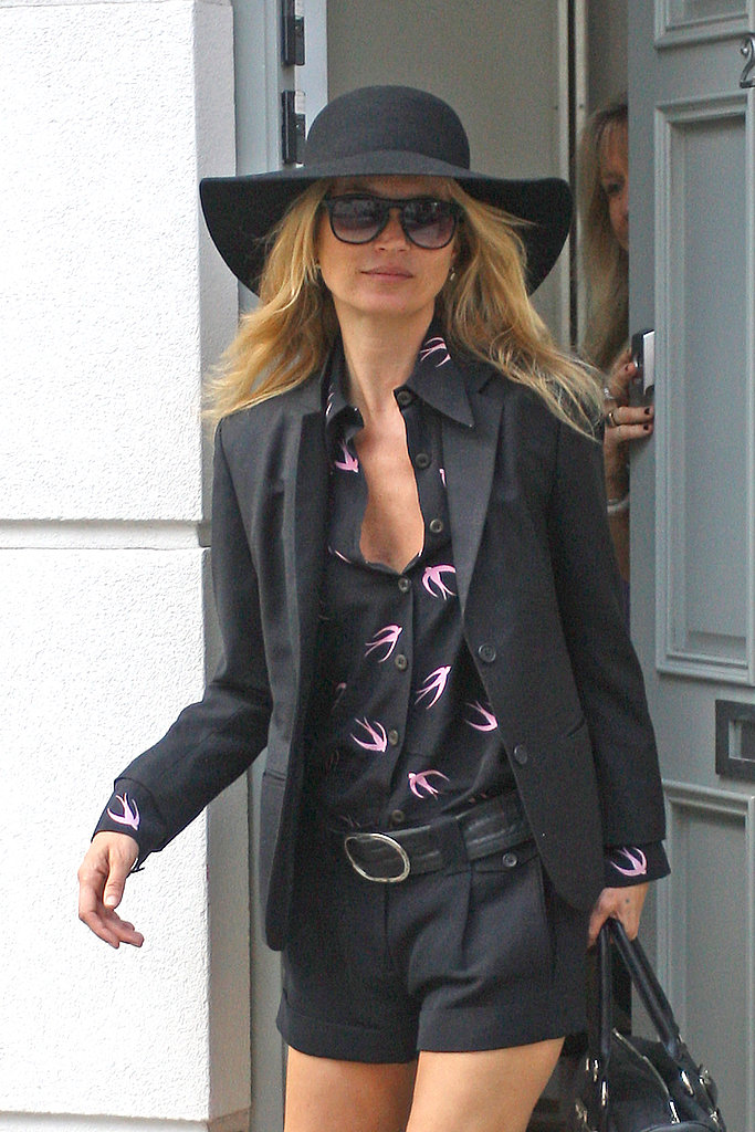 Kate Moss Wears Black Ahead of Her All-White Wedding Day