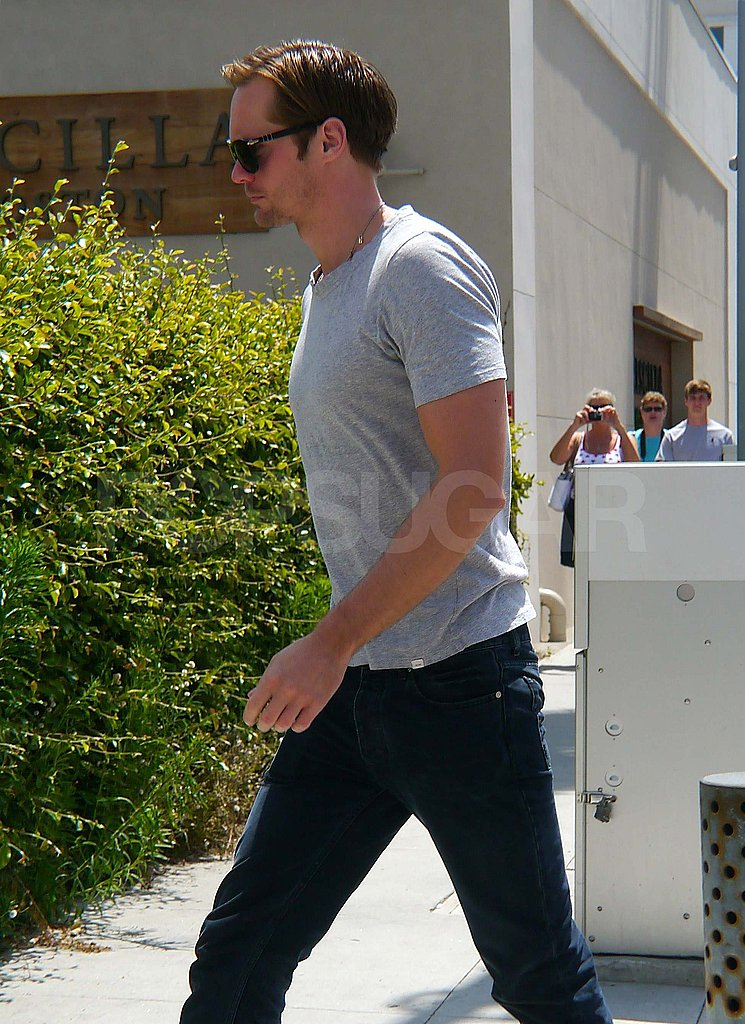 Alexander Skarsgard had lunch in LA.