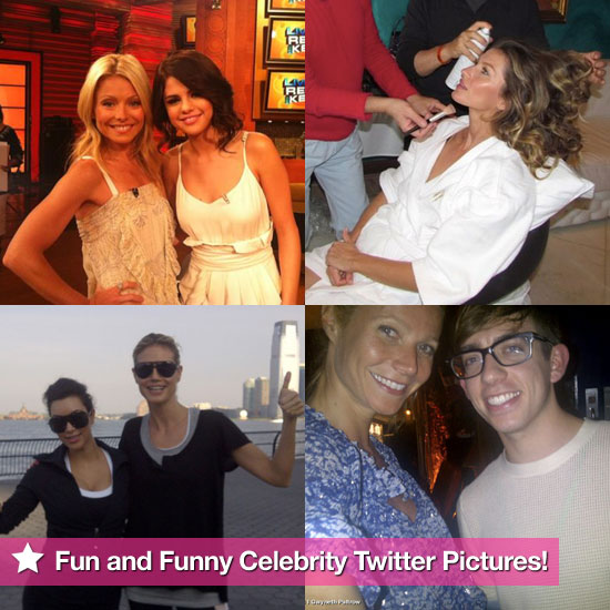 Gisele Bündchen, Selena Gomez, Heidi Klum, and More in This Week's Fun and Funny Celebrity Twitter Pictures!