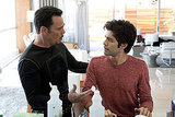 Kevin Dillon as Johnny Drama and Adrian Grenier as Vincent Chase, Entourage season eight.
