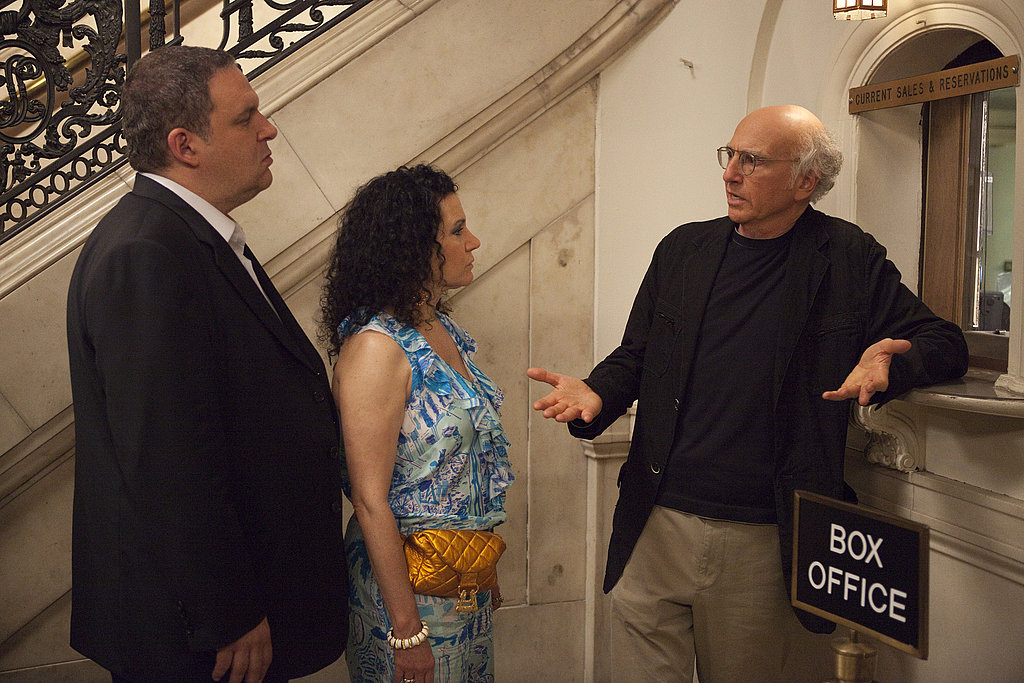 Jeff Garlin as Jeff Greene, Susie Essman as Susie Greene, and Larry David, Curb Your Enthusiasm season eight.