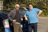 Larry David and Jeff Garlin as Jeff Greene, Curb Your Enthusiasm season eight.