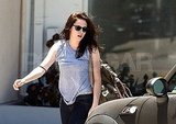 Kristen Stewart wore sunglasses after yoga class.