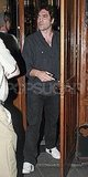 Javier Bardem wore all black for his dinner date.